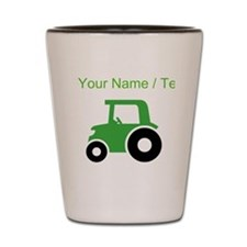 Custom Green Tractor Shot Glass