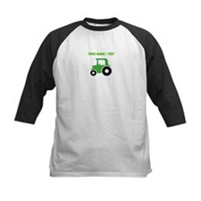 Custom Green Tractor Baseball Jersey