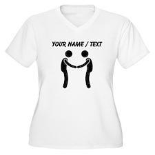 Custom Shaking Hands Plus Size T-Shirt
