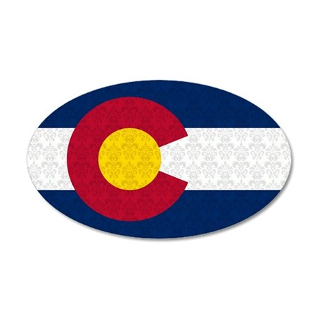 Colorado Flag Damask Pattern Wall Decal