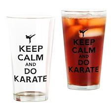Keep calm and do Karate Drinking Glass