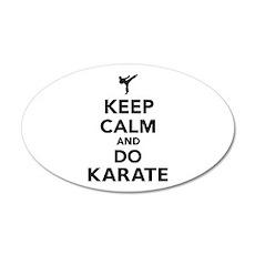 Keep calm and do Karate 20x12 Oval Wall Decal