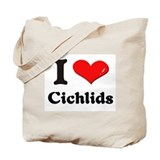 I love cichlids Tote Bag