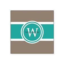 "Custom Monogram Square Sticker 3"" x 3"""