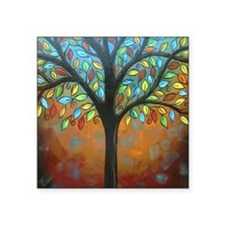 """Tree of Many Colors Square Sticker 3"""" x 3"""""""