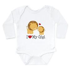 I Love Gigi Long Sleeve Infant Bodysuit