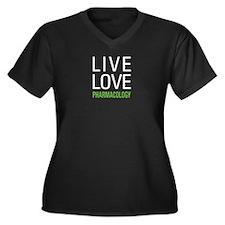 Pharmacology Women's Plus Size V-Neck Dark T-Shirt