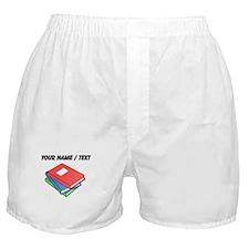 Custom Three Textbooks Boxer Shorts
