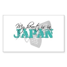 My heart is in Japan Rectangle Decal
