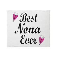 Best Nona Ever Throw Blanket