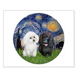 Starry / Poodle (White) Small Poster
