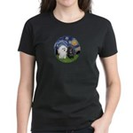 Starry / Poodle (White) Women's Dark T-Shirt