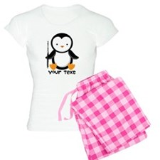 Personalized Flute Penguin Women's Light Pajamas