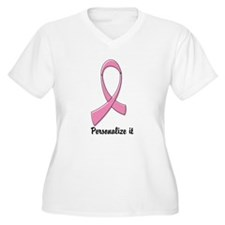 Breast Cancer Personalize Plus Size T-Shirt