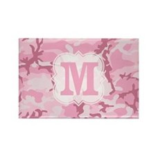 Monogram Pink Camouflage Magnets