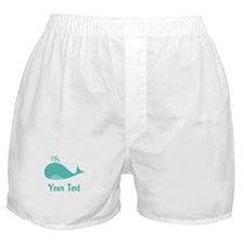 Personalizable Cute Whale Boxer Shorts
