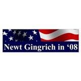 Gingrich 08 Bumper Bumper Sticker