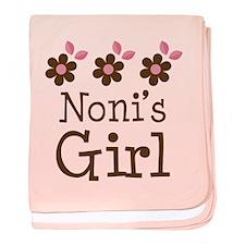 Noni's Girl Daisies baby blanket