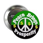 Peace Brings Prosperity Button