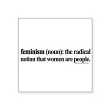 "Cool Women's rights Square Sticker 3"" x 3"""