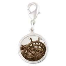 Sail away 2 of 2 Silver Round Charm
