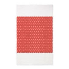 Pink and Coral Polka Dots 3'x5' Area Rug