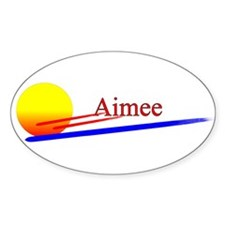 Aimee Oval Decal