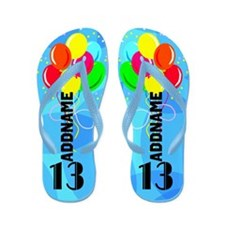 Personalized 13th Flip Flops