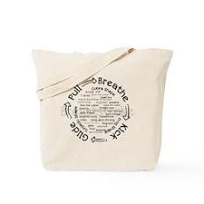 pull breathe kick glide Tote Bag