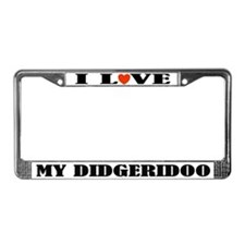 Didgeridoo License Plate Frame