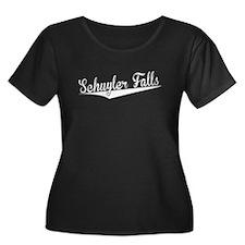 Schuyler Falls, Retro, Plus Size T-Shirt