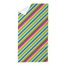 Punchy Stripes Beach Towel