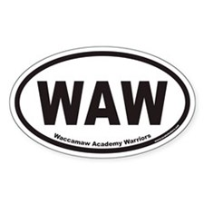 Waccamaw Academy Warriors WAW Euro Oval Decal