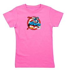 Captain America Shield Girl's Tee