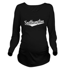 Southampton, Retro, Long Sleeve Maternity T-Shirt