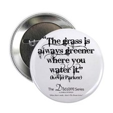 "The Grass (black - L) 2.25"" Button"