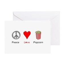 Peace Love Popcorn Greeting Card