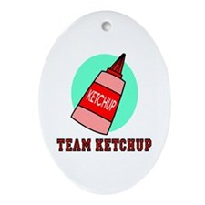 Team Ketchup Oval Ornament