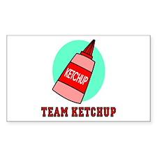Team Ketchup Rectangle Sticker