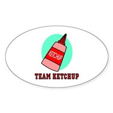 Team Ketchup Oval Sticker
