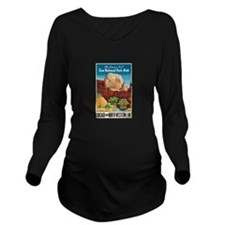 Zion National Park Vintage Art Long Sleeve Materni