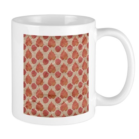 Autumn Fall Red Leaves Pattern Mugs