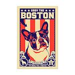 Obey the BOSTON Terrier! Mini Poster Print