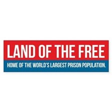 Land of the Free Bumper Car Sticker