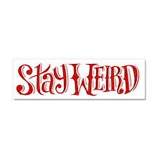 Stay Weird Car Magnet 10 x 3