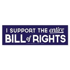 Bill of Rights Bumper Bumper Sticker