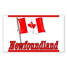 Canada Flag - Newfoundland Rectangle Bumper Stickers