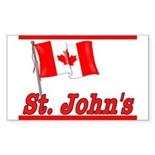 Canada Flag - St. John's Text Sticker (Rectangular