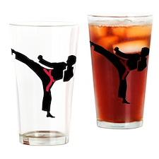 Martial arts Karate kick Drinking Glass