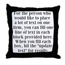 Lines of Text to Personalize Throw Pillow